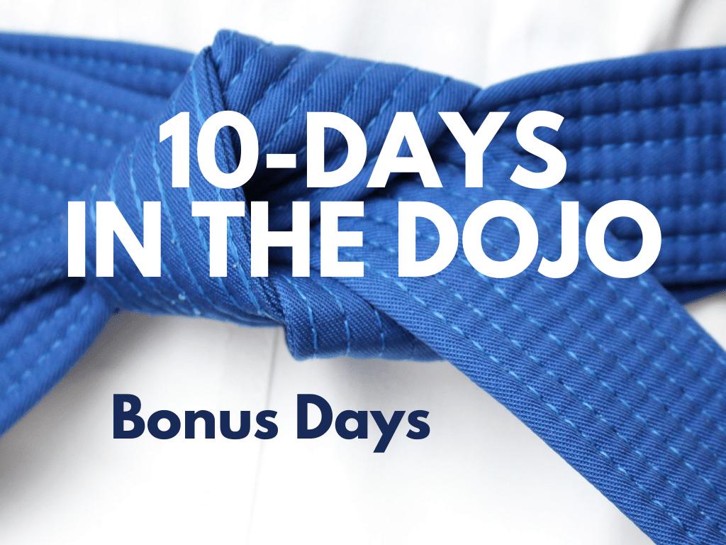 10-Days in the Dojo: Bonus Days